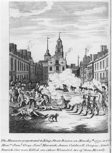 The massacre perpetrated in King Street Boston on March 5th 1770