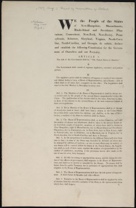 Initial Draft of Constitution, 1787