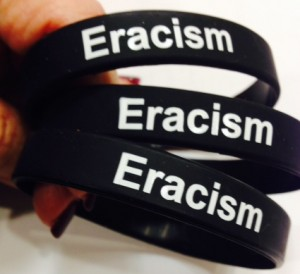 "To purchase your ""Eracism"" wristband, please contact our TPS-GSU Project Manager, Lynn Johnson:  708-235-7577"